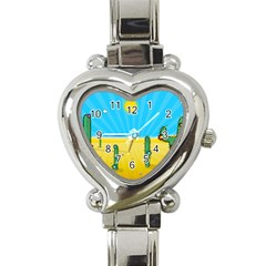 Cactus Heart Italian Charm Watch  by NickGreenaway