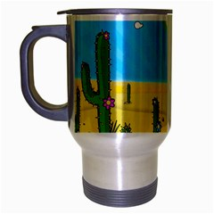 Cactus Travel Mug (silver Gray) by NickGreenaway