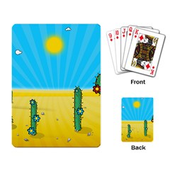 Cactus Playing Cards Single Design by NickGreenaway