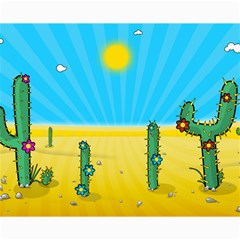 Cactus Canvas 16  X 20  (unframed) by NickGreenaway
