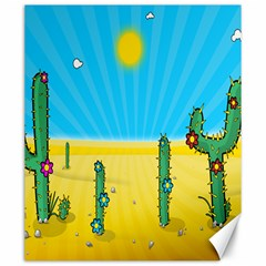 Cactus Canvas 20  X 24  (unframed) by NickGreenaway