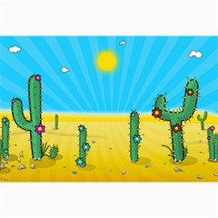 Cactus Canvas 24  X 36  (unframed) by NickGreenaway