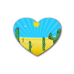 Cactus Drink Coasters 4 Pack (heart)  by NickGreenaway