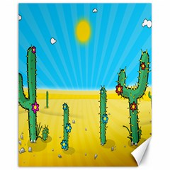 Cactus Canvas 11  X 14  (unframed) by NickGreenaway