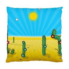 Cactus Cushion Case (two Sided)  by NickGreenaway