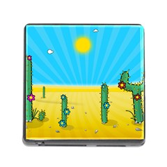 Cactus Memory Card Reader With Storage (square) by NickGreenaway