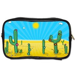 Cactus Travel Toiletry Bag (two Sides) by NickGreenaway