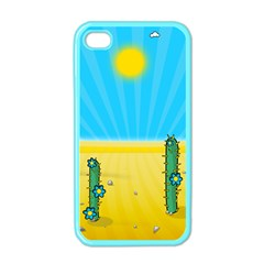 Cactus Apple Iphone 4 Case (color) by NickGreenaway