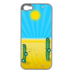 Cactus Apple Iphone 5 Case (silver) by NickGreenaway