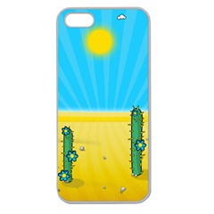 Cactus Apple Seamless Iphone 5 Case (clear) by NickGreenaway