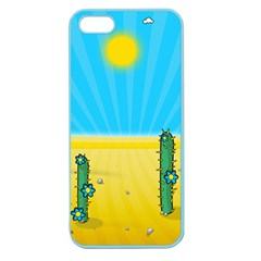 Cactus Apple Seamless Iphone 5 Case (color) by NickGreenaway