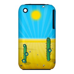 Cactus Apple Iphone 3g/3gs Hardshell Case (pc+silicone) by NickGreenaway