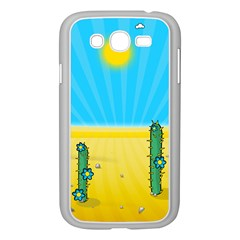 Cactus Samsung Galaxy Grand Duos I9082 Case (white) by NickGreenaway