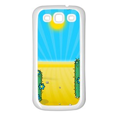 Cactus Samsung Galaxy S3 Back Case (white) by NickGreenaway