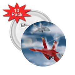 America Jet Fighter Air Force 2 25  Button (10 Pack) by NickGreenaway