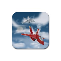 America Jet Fighter Air Force Drink Coaster (square)