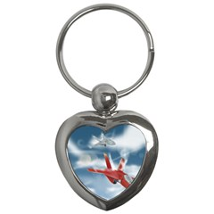 America Jet Fighter Air Force Key Chain (heart) by NickGreenaway