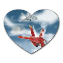 America Jet Fighter Air Force Mouse Pad (heart)