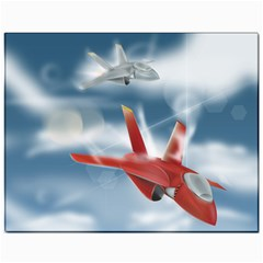 America Jet fighter Air Force Canvas 11  x 14  (Unframed) by NickGreenaway
