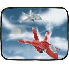 America Jet Fighter Air Force Mini Fleece Blanket (two Sided)