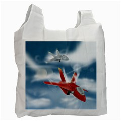 America Jet Fighter Air Force Recycle Bag (one Side) by NickGreenaway