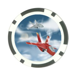 America Jet Fighter Air Force Poker Chip (10 Pack) by NickGreenaway