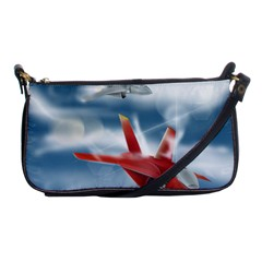 America Jet Fighter Air Force Evening Bag by NickGreenaway