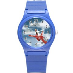 America Jet Fighter Air Force Plastic Sport Watch (small) by NickGreenaway