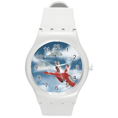America Jet Fighter Air Force Plastic Sport Watch (medium) by NickGreenaway