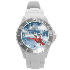 America Jet Fighter Air Force Plastic Sport Watch (large) by NickGreenaway