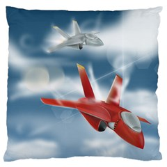 America Jet Fighter Air Force Large Cushion Case (two Sided)  by NickGreenaway