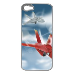 America Jet Fighter Air Force Apple Iphone 5 Case (silver) by NickGreenaway
