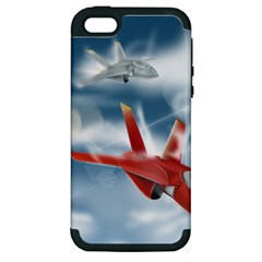America Jet Fighter Air Force Apple Iphone 5 Hardshell Case (pc+silicone) by NickGreenaway