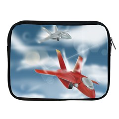 America Jet Fighter Air Force Apple Ipad Zippered Sleeve by NickGreenaway