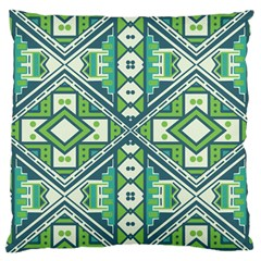 Green Pattern Large Cushion Case (two Sided)