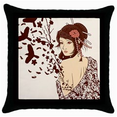 Come to life Black Throw Pillow Case by Contest1736614