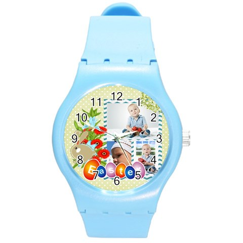 Easter By Easter   Round Plastic Sport Watch (m)   Zkd60rzt207k   Www Artscow Com Front