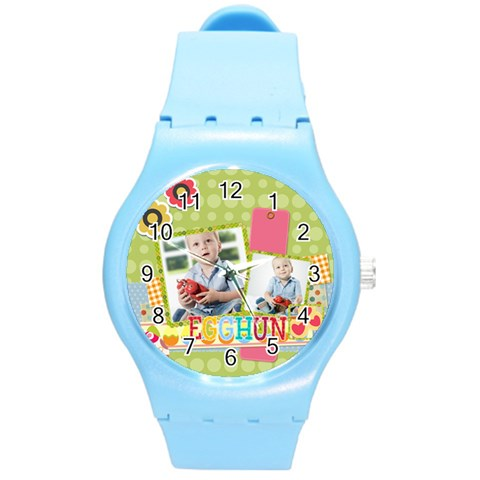 Easter By Easter   Round Plastic Sport Watch (m)   Jqrz6xbhwx7j   Www Artscow Com Front
