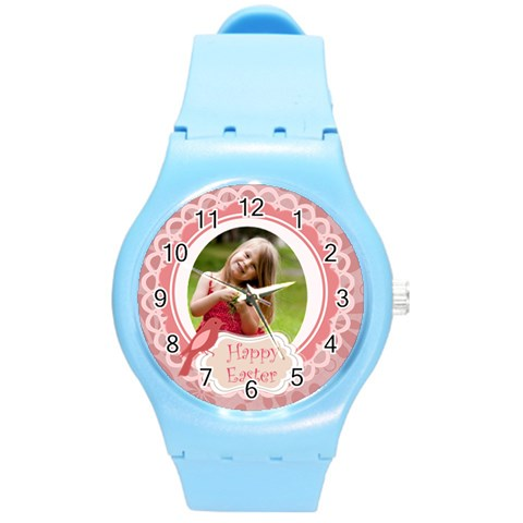 Easter By Easter   Round Plastic Sport Watch (m)   Ygi60bfki8zu   Www Artscow Com Front