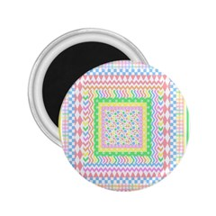 Layered Pastels 2 25  Button Magnet by StuffOrSomething