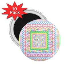 Layered Pastels 2 25  Button Magnet (10 Pack) by StuffOrSomething