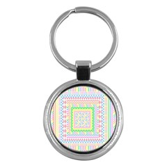 Layered Pastels Key Chain (round) by StuffOrSomething