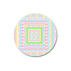 Layered Pastels Magnet 3  (round) by StuffOrSomething