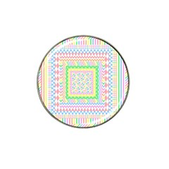 Layered Pastels Golf Ball Marker 4 Pack (for Hat Clip) by StuffOrSomething