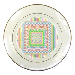 Layered Pastels Porcelain Display Plate by StuffOrSomething