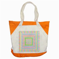 Layered Pastels Accent Tote Bag by StuffOrSomething