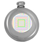 Layered Pastels Hip Flask (Round) Front