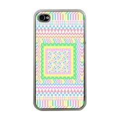 Layered Pastels Apple Iphone 4 Case (clear) by StuffOrSomething