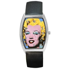 warhol Marilyn-Posters Barrel Style Metal Watch by bonniebeautyplanet