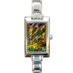 Colourful Flames  Rectangular Italian Charm Watch by Colorfulart23